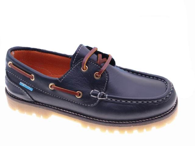14f5ce6ff91 Nauticos de Niño Vestir Piel Marino con cordones | Zapatos de piel Hombre &  Mujer de Carlo Garelli